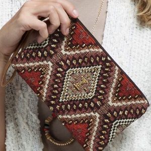Tribal Ikat Dakota Wristlet